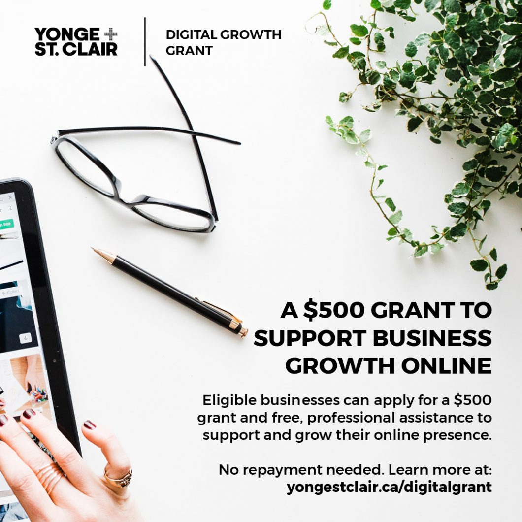Digital Growth Grant Yonge St Clair